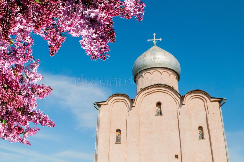 novgorod Ρωσία veliky Εκκλησία λυτρωτών σε Nereditsa - μια Ορθόδοξη Εκκλησία 1198 Είναι μια από τις παλαιότερες εκκλησίες της Ρωσ στοκ εικόνες με δικαίωμα ελεύθερης χρήσης
