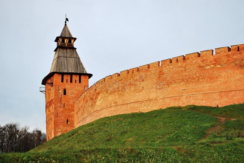 Novgorod Detinets también el Novgorod el Kremlin foto de archivo