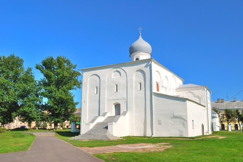 Novgorod. Iglesia de la asunción fotografía de archivo libre de regalías