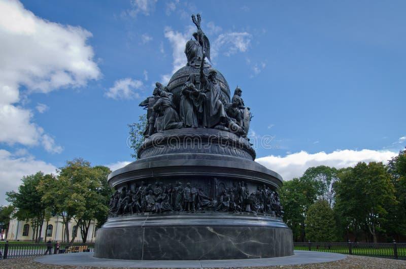 Novgorod milleniumstaty arkivfoton