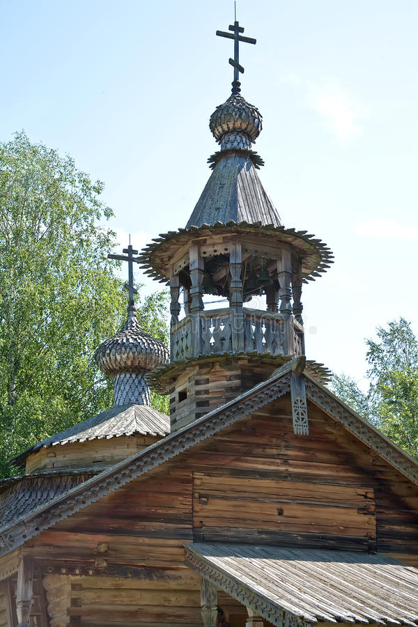 novgorod Musée d'architecture en bois Vitoslavlitsy image stock