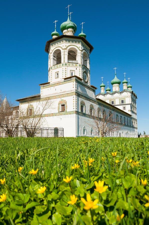 novgorod veliky的俄国 尼古拉斯Vyazhischsky stauropegic修道院在Veliky诺夫哥罗德州俄罗斯 库存图片