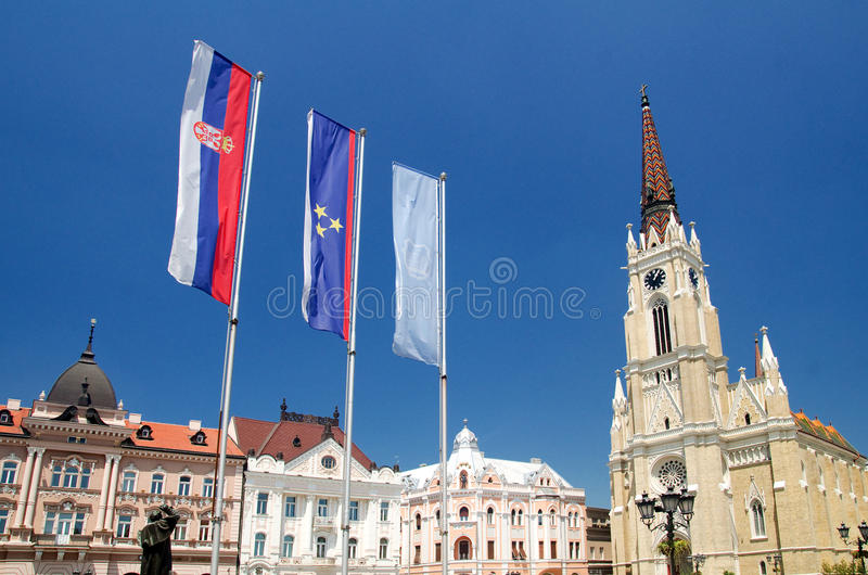Novi Sad. Is the capital of the northern Serbian province of Vojvodina and is the second largest city in Serbia, after Belgrade. Founded in 1694,  was an royalty free stock photos