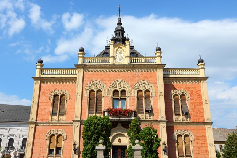 Novi Sad. Serbia - city in the region of Vojvodina. Old palace stock photos