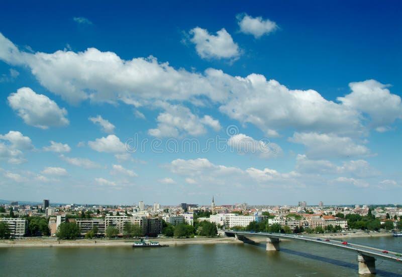 Novi sad. View at the city of novi sad in serbia stock image