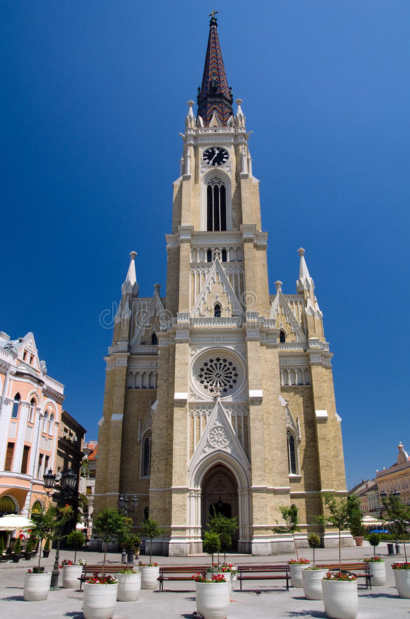 Novi Sad - The Name of Mary Cathedral. Novi Sad is the capital of the northern Serbian province of Vojvodina and is the second largest city in Serbia, after stock images