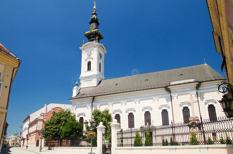 Novi Sad - Orthodox Cathedral of Saint George. Novi Sad is the capital of the northern Serbian province of Vojvodina and is the second largest city in Serbia royalty free stock photo