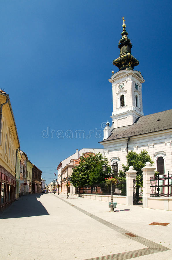 Novi Sad - Orthodox Cathedral of Saint George. Novi Sad is the capital of the northern Serbian province of Vojvodina and is the second largest city in Serbia stock images