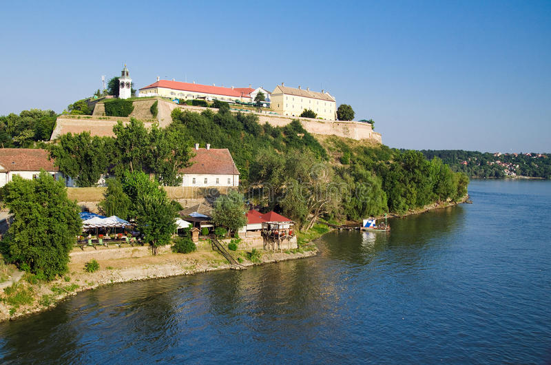 Novi Sad - Petrovaradin Fortress. Petrovaradin is an impressive fortress that overlooks Novi Sad and the Danube. Since its inception in 2001, EXIT festival is an royalty free stock images