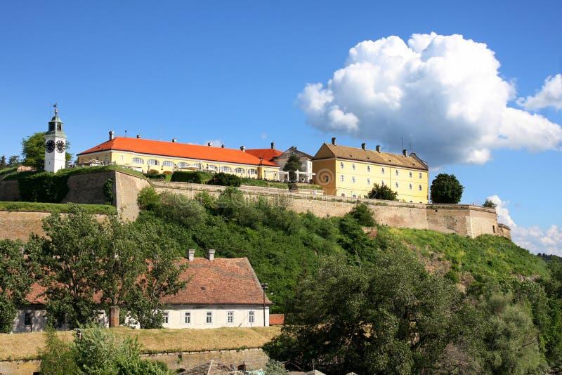 Novi Sad, Serbia. Petrovaradin Fortress and Danube river in Novi Sad, Serbia royalty free stock images