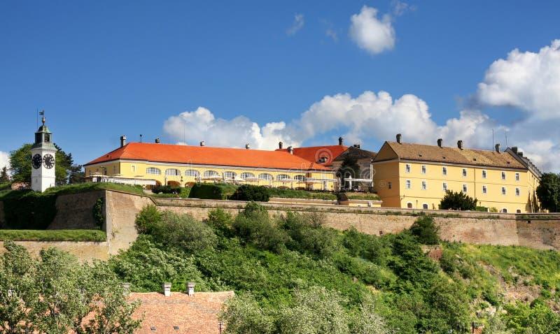 Novi Sad, Serbia. Petrovaradin Fortress and Danube river in Novi Sad, Serbia stock photography