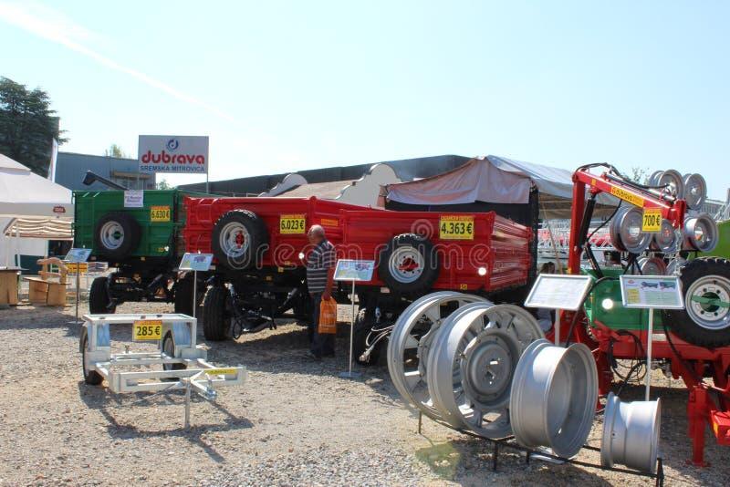 Novi Sad, Serbia, 20 05 2018 giusto, rimorchi di trattore fotografia stock