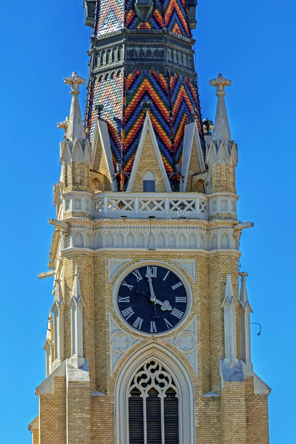 Detail of St. Mary Cathedral, Novi Sad, Serbia stock photography