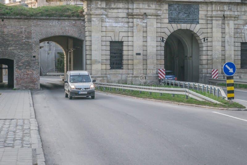 Novi Sad, Serbia - 16 marzo 2019: Vecchie pareti della fortezza di Petrovaradin fotografie stock