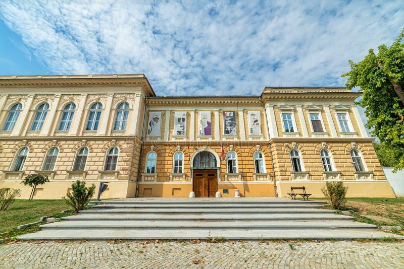 `Museum of the Annexation of Vojvodina to the Kingdom of Serbia`. Novi Sad, Serbia - September 17,2019: Building of Museum of Vojvodina at the center of the City royalty free stock image