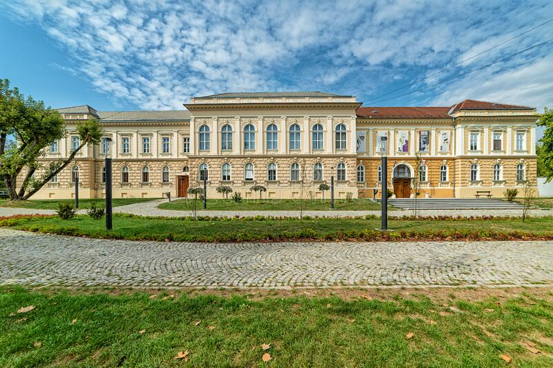 `Museum of the Annexation of Vojvodina to the Kingdom of Serbia`. Novi Sad, Serbia - September 17,2019: Building of Museum of Vojvodina at the center of the City stock images