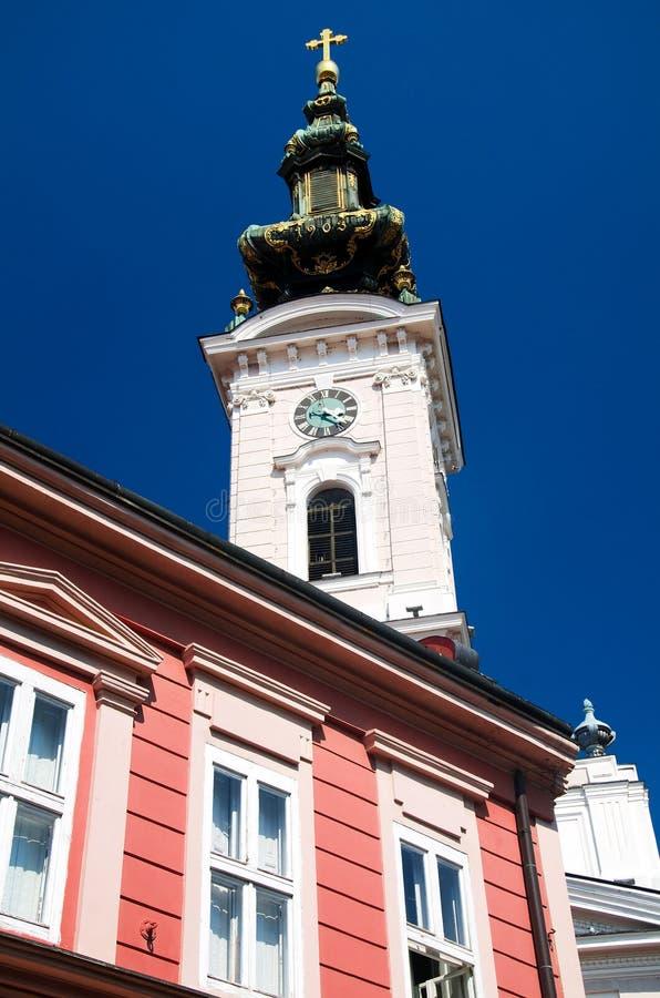 Novi triste - catedral ortodoxo de Saint George imagem de stock royalty free