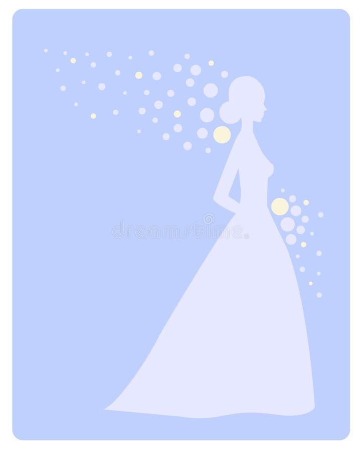 Novia azul stock de ilustración