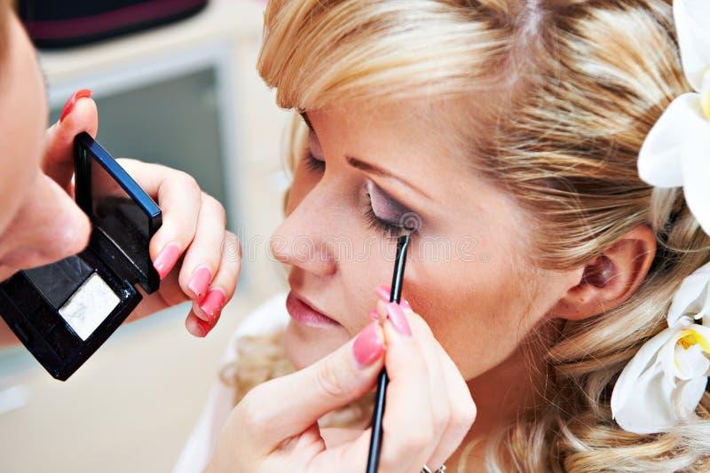 Novia del maquillaje fotografía de archivo