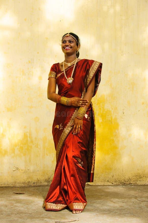 Novia del Tamil llena imagen de archivo