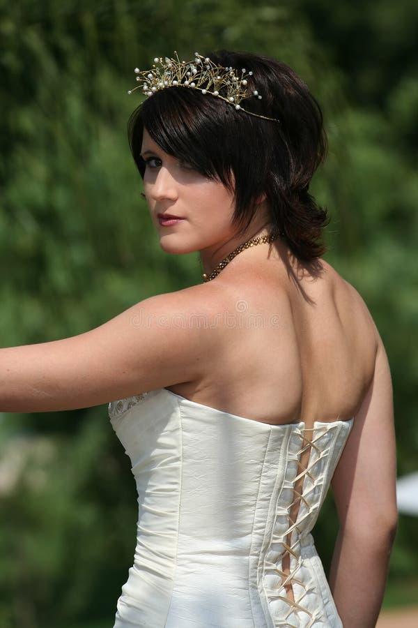 Novia en alineada de boda foto de archivo libre de regalías