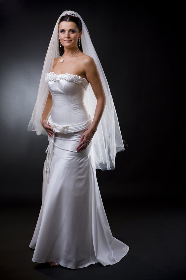 Novia en alineada de boda imagen de archivo libre de regalías