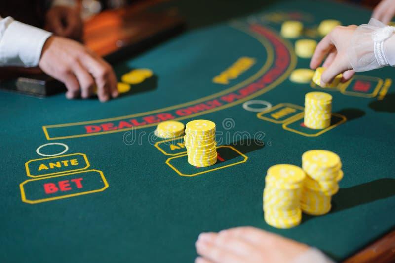 Novia en casino fotos de archivo libres de regalías