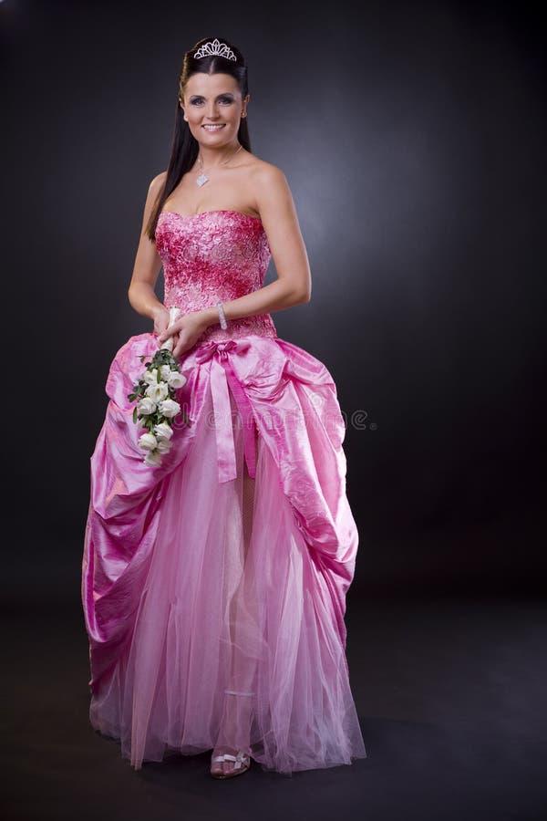Novia en color de rosa imagen de archivo libre de regalías