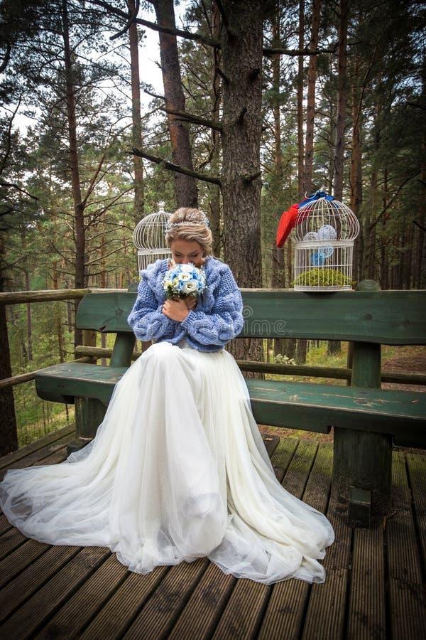 Novia en el día de boda foto de archivo libre de regalías