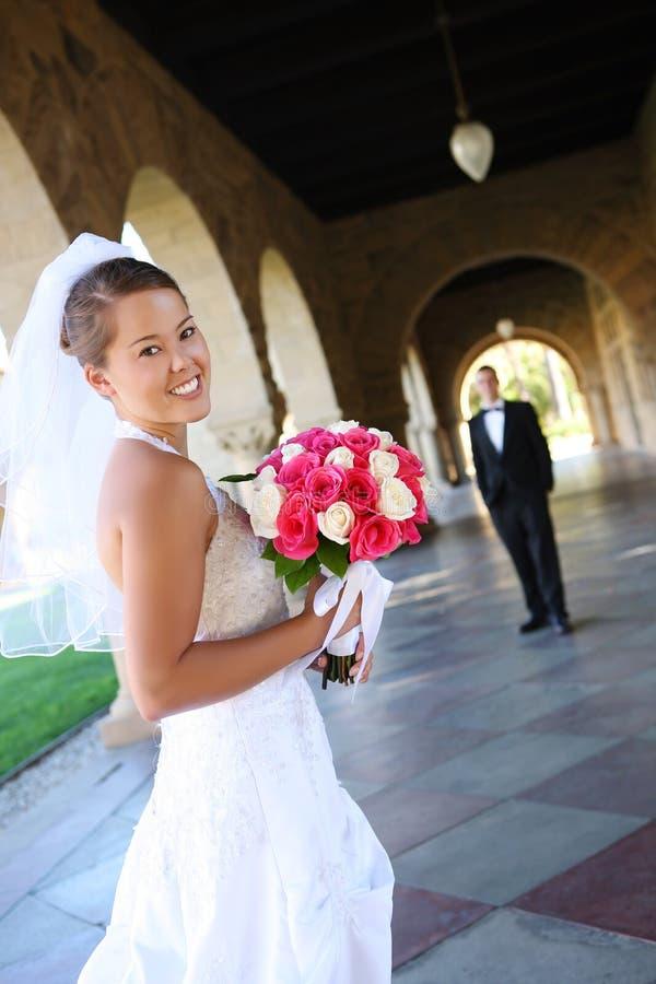 Novia en la boda imagenes de archivo