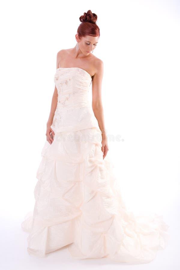 Novia en vestido de boda foto de archivo libre de regalías