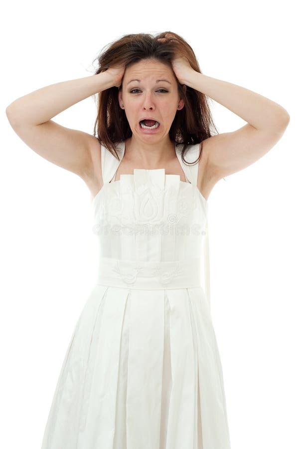 Novia enojada fotografía de archivo