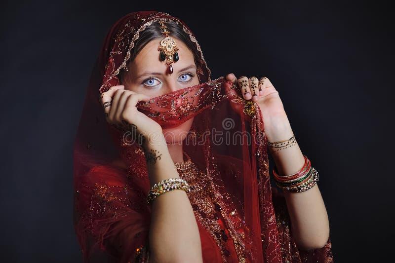 Novia hind? lista para la boda foto de archivo libre de regalías