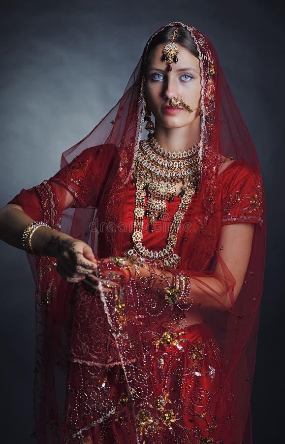 Novia hind? lista para la boda fotografía de archivo libre de regalías
