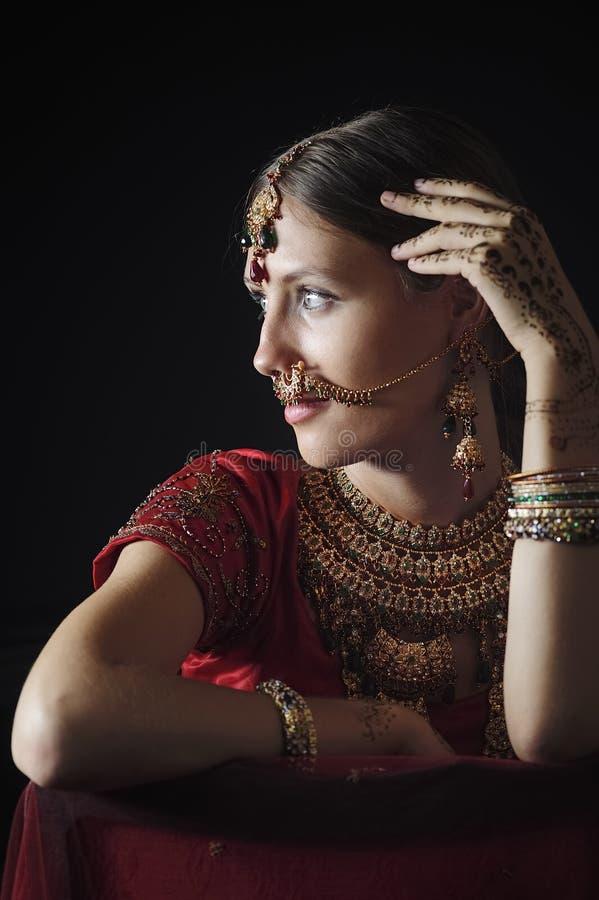Novia hind? lista para la boda fotografía de archivo