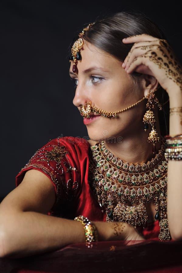 Novia hind? lista para la boda imágenes de archivo libres de regalías