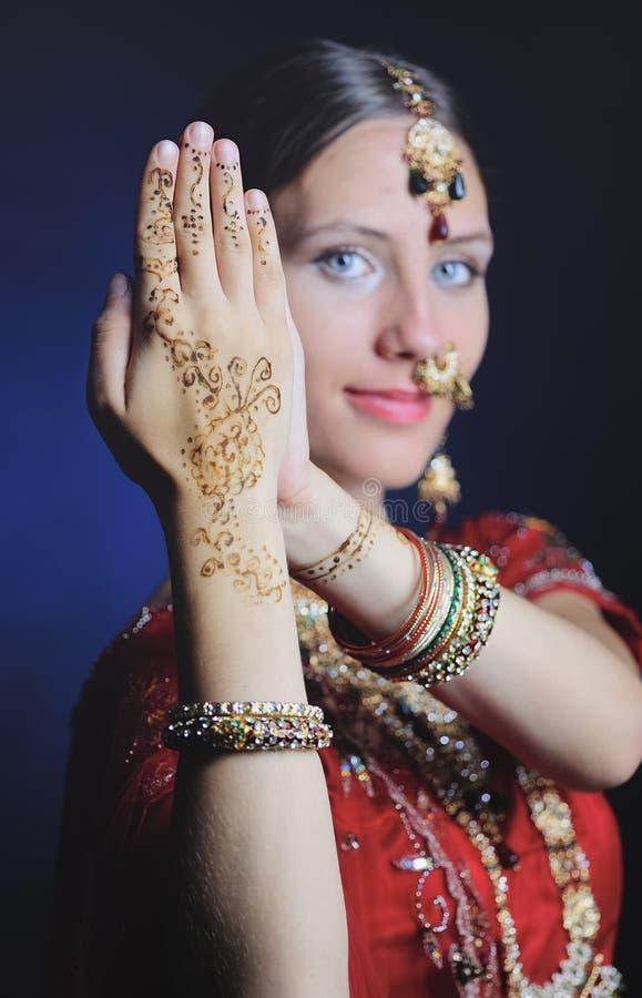 Novia hind? lista para la boda fotos de archivo libres de regalías