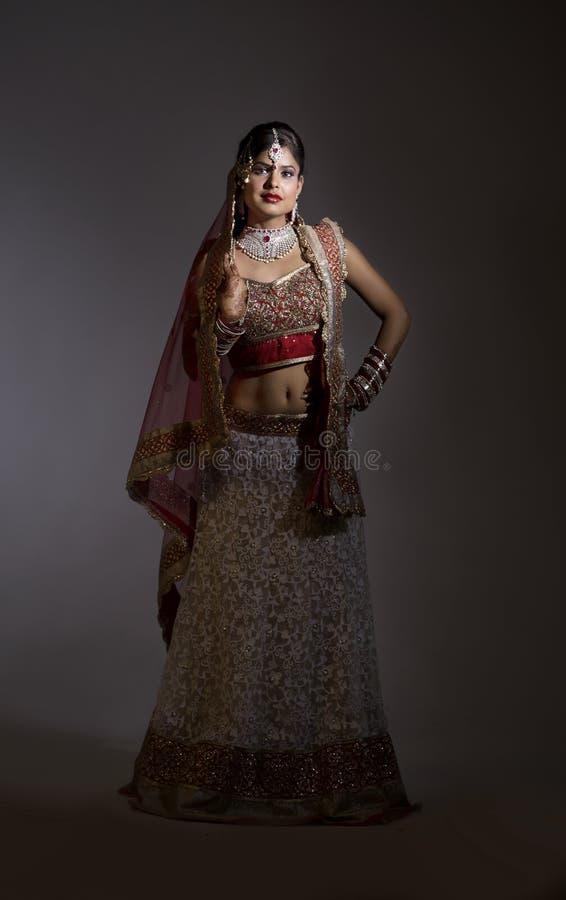 Novia india hermosa foto de archivo libre de regalías