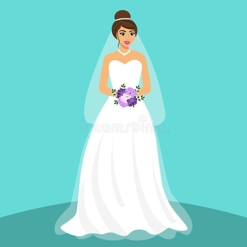 Novia Invitación de boda con la novia libre illustration