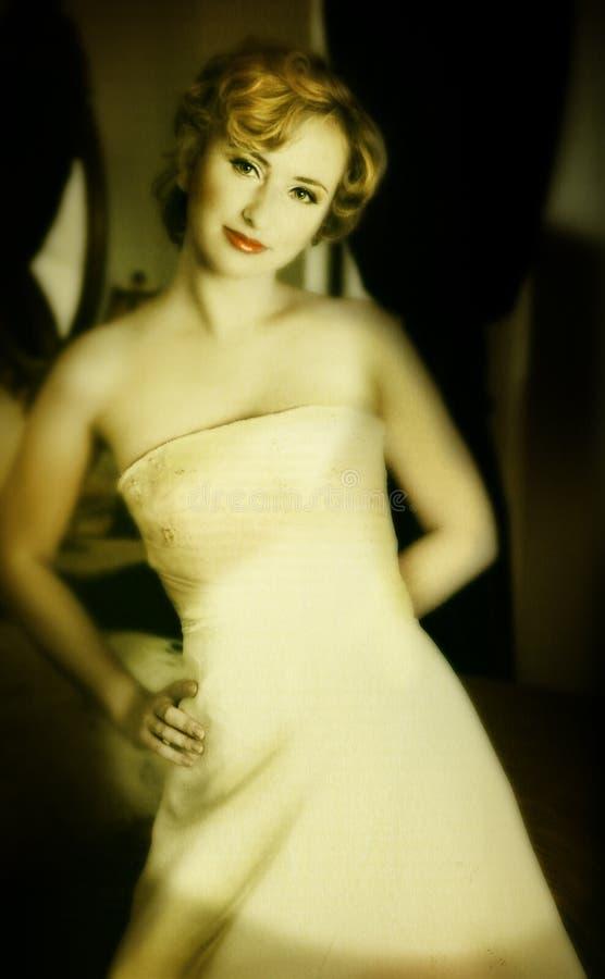 Novia rubia de Grunge foto de archivo libre de regalías