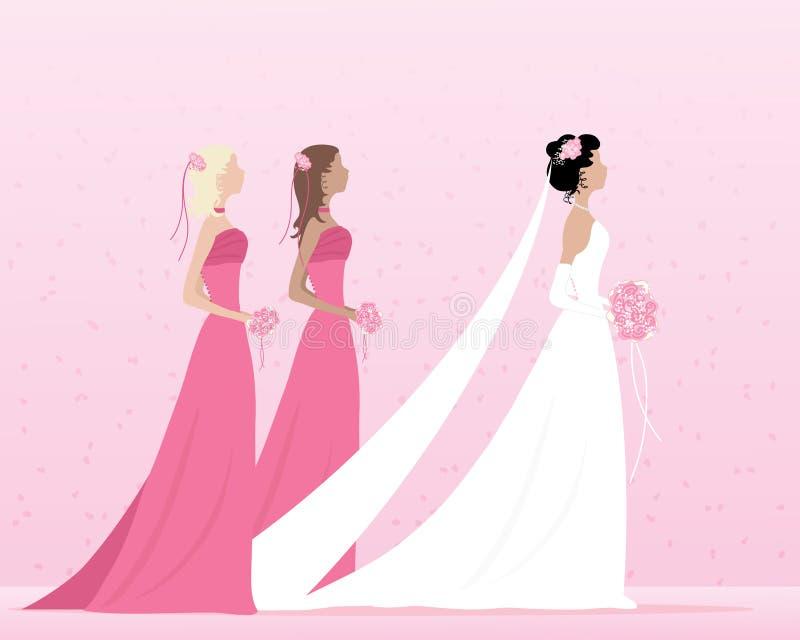 Novia y damas de honor libre illustration