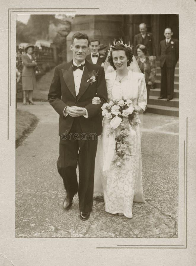 Novia y novio fotografía de archivo