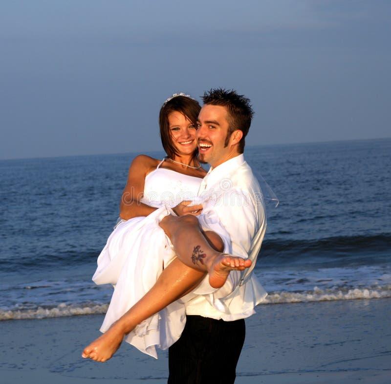 Novia y novio imagen de archivo