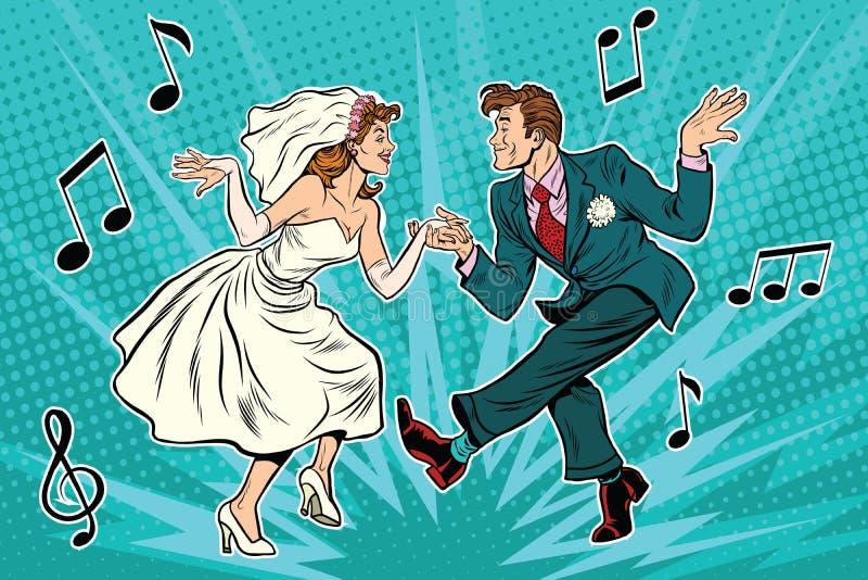 Novia y novio del baile libre illustration
