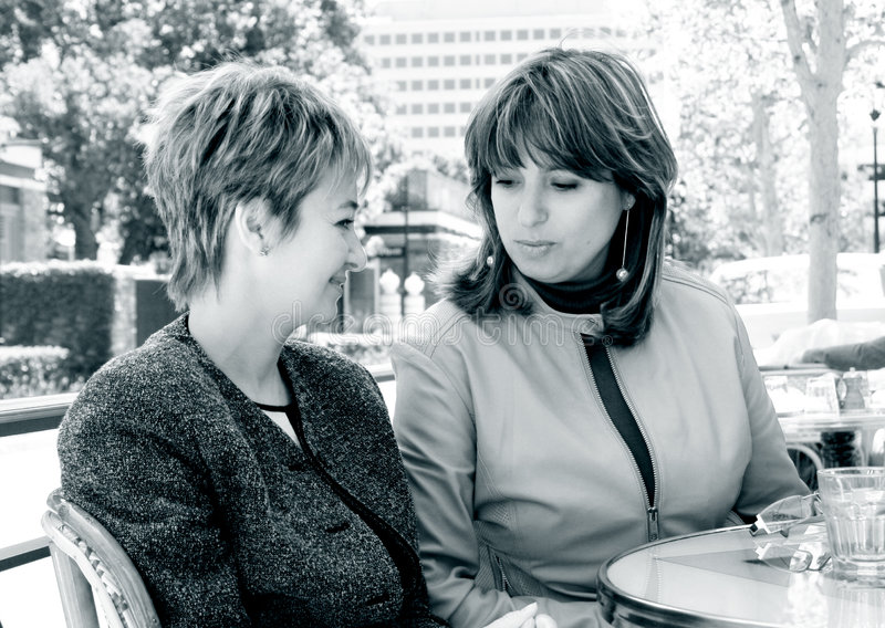 Novias en el almuerzo imagen de archivo libre de regalías