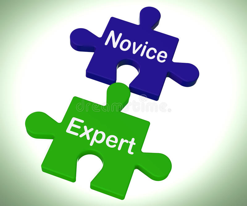 Download Novice Expert Puzzle Shows Unskilled And Professional Stock Illustration - Image: 38090127