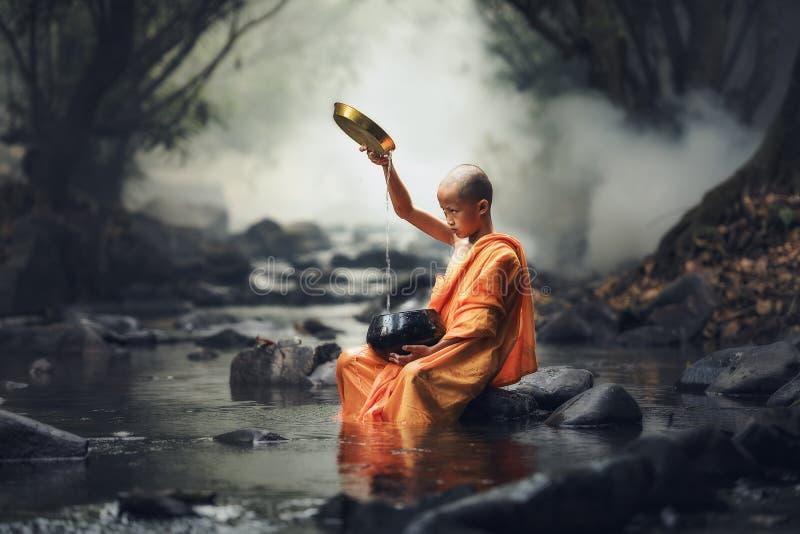 Novice monk royalty free stock photography