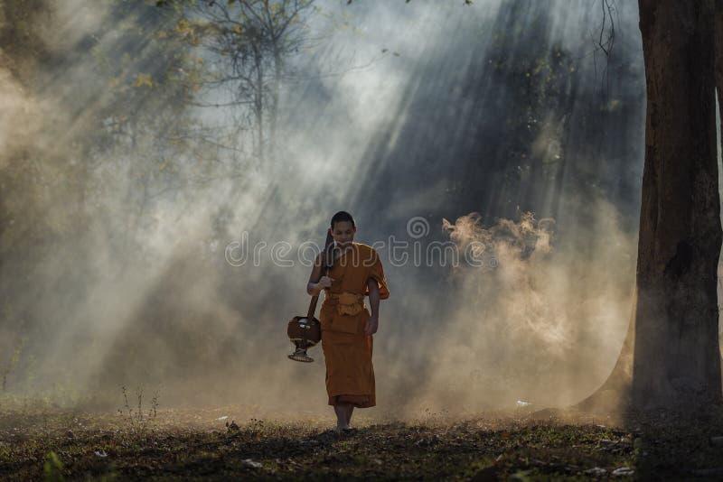 Novice monk royalty free stock photos