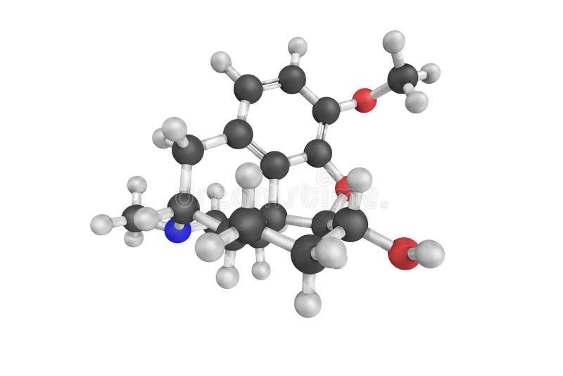 Novicondin, die ook als Dihydroneopine, een klinische drug wordt bekend 3D Mo stock foto's