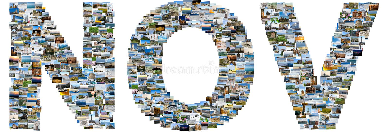 Noviembre hizo de las fotos del viaje foto de archivo libre de regalías